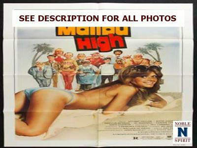 "NobleSpirit NO RESERVE Original 1979 Malibu High 27x41"" Folded Movie Poster"