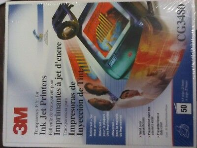 3M CG3480 Transparency Film For Copiers 50 Sheets 8.5 X 11 New & Sealed