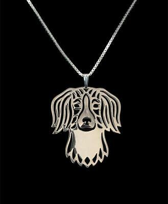 Keeshond Silver Charm Pendant Necklace Dog Lover Gifts for Her Friend Gift