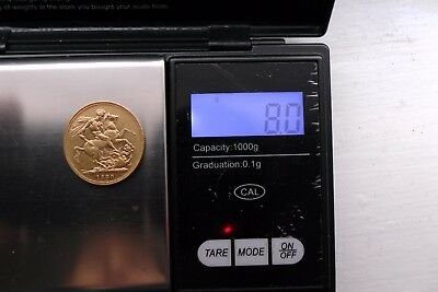 Gold 22k Full Sovereign1880 Queen Victoria 8g