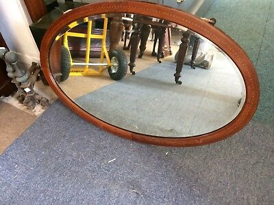Oval Mahogany Inland Edwardian Wall Mirror