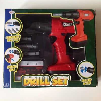 DIY Toyrific Power Drill Set Toy with Sound Role Pretend Play with Accessories