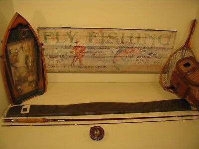"""Ted Williams Fly Rod, 8' 6"""" + Reel , Bag"""