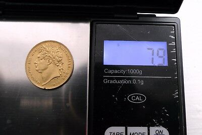 Gold 22k Full Sovereign1822 King George III 8g