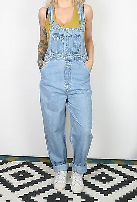 Denim Dungarees UK 10 Small Fitted   8 XS Oversized Blue (53H)