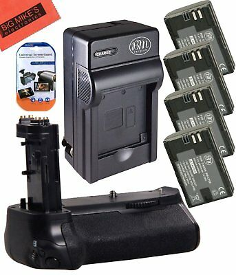 BG-E16 Replacement Grip for Canon EOS 7D Mark II + 4 LP-E6N Batteries + Charger