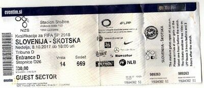 Slovenia V Scotland  ticket 8th October 2017