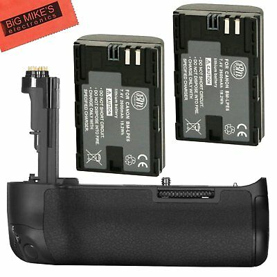 BG-E20 Replacement Battery Grip for Canon EOS 5D Mark IV + 2 LP-E6N Battery