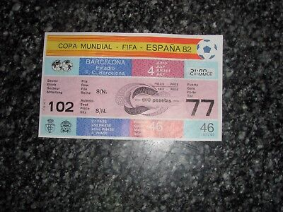 Ticket Poland V Soviet Union Game 46 Fifa World Cup Spain 1982 Russia Urss