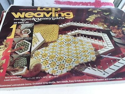 LOVE & MONEY Hexagon Lap loom kit Instructions, shuttle & screws included