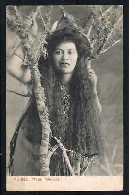 new zealand maori princess printed postcard