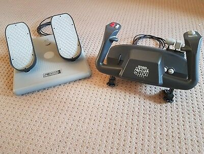 CH Products Flight Sim Yoke and Pedals (set, like new)
