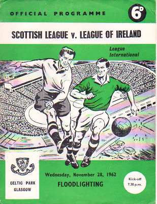 Scottish League V League Of Ireland 28/11/1962 League International