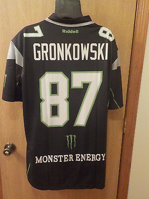Rob Gronkowski Special Edition Monster Energy Men s Jersey NE Patriots Size  XL 08fa6f6b6