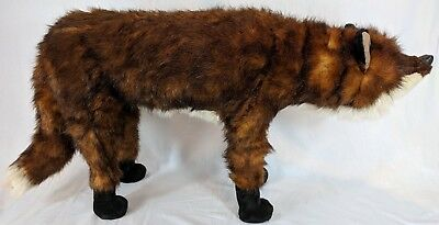 "DITZ Fox The Hen House Foot Rest Footrest Leg Standing Plush 32"" x 17"" Ottoman"