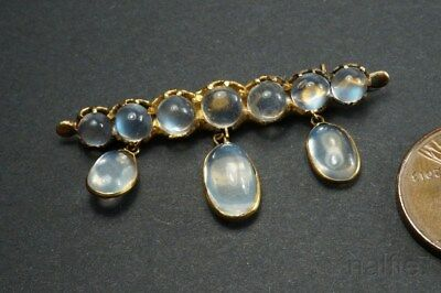 LOVELY ANTIQUE ENGLISH 9ct GOLD MOONSTONE BROOCH c1900 NO RESERVE