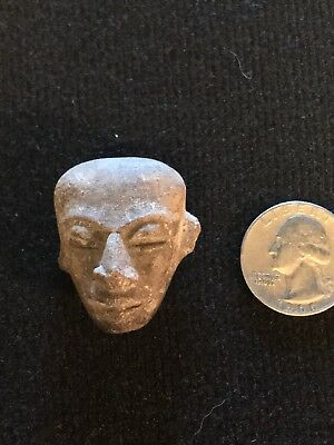 Ancient Egyptian miniature stone carved Mask from the II Dynasty.. AUTHENTIC