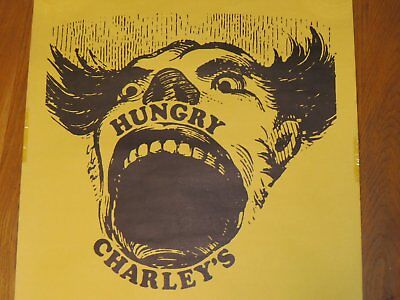 Vintage Hungry Charley's bar restaurant poster_Syracuse University memorabilia_