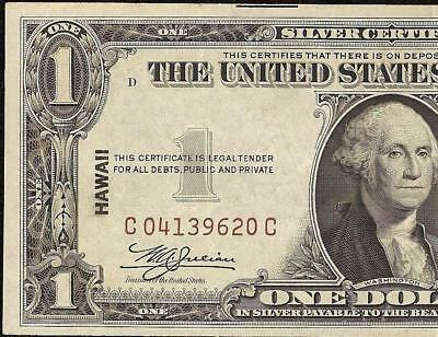 1935A $1 Dollar Bill Hawaii Brown Seal Wwii Ww2 Silver Certificate Currency Note