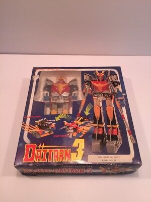 Complete Vintage Daitarn 3 In One Deluxe Die-Cast Play-Bot 1984 Sunrise - Rare