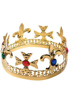 Brand New Christmas Holiday Gold Jeweled Crown Costume Accessory