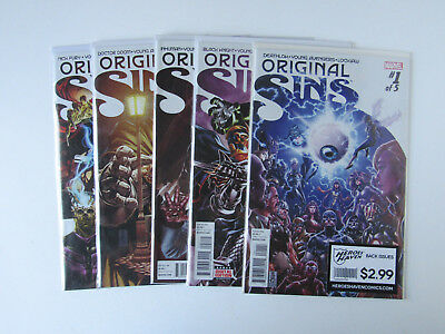 Original Sin #1 2 3 4 5 Marvel EPIC EVENT Series Comic Book Complete Set 1-5 WOW