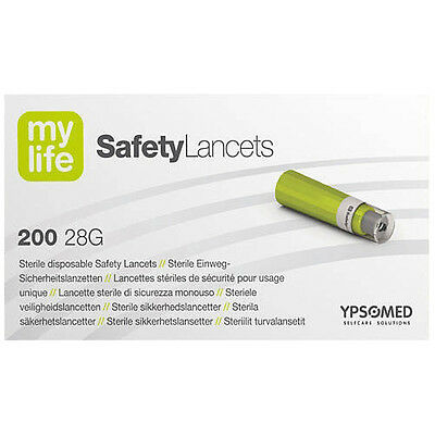 Mylife 28G Safety Lancets x 200