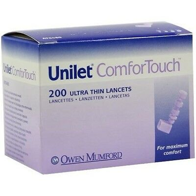 Unilet ComforTouch 28G Ultra-Thin Lancets x 200