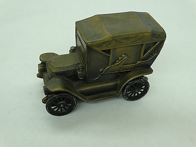 Vintage Metal Stanley Steamer Car Coin  Bank Made By Banthrico