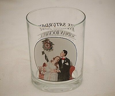 Norman Rockwell Saturday Evening Post Glass Glassware Courting at Midnight 1919