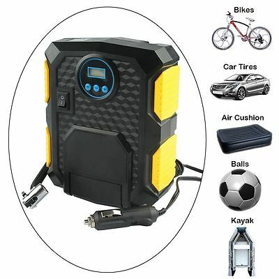 Portable LCD Digital Tire Inflator DC 12V Car Electric Air Compressor Pump