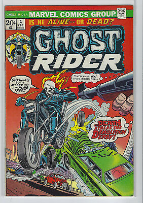 Ghost Rider #4 Key Marvel Bronze Age Comic Book Nice Copy