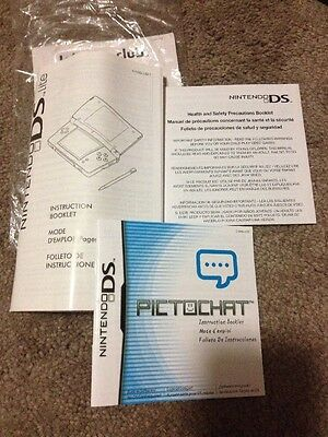 Nintendo DS Owner's Operations Manual Instruction Booklet ONLY