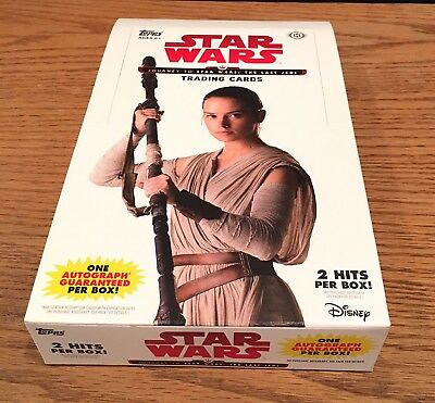 2017 Topps Star Wars Journey To The Last Jedi NO HITS Hobby Box 24 Packs