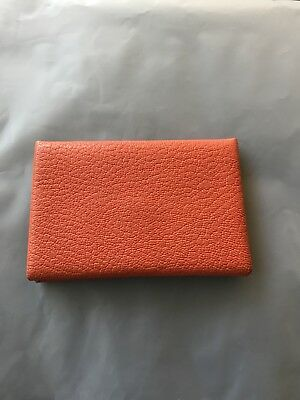 Hermes Calvi Card Case Orange Exc!