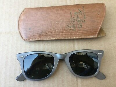 Vintage B&L Ray-Ban Sunglasses 5024 Gray Black  Nice