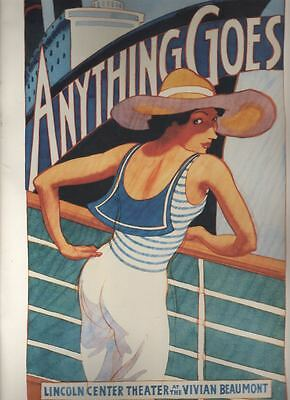 """Patti LuPone   """"Anything Goes""""  REVIVAL   Broadway  Souvenir  Program  1987  OBC"""