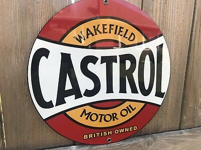 Buffalo Motor Oil round metal  sign Vintage Gasoline Style reproduction