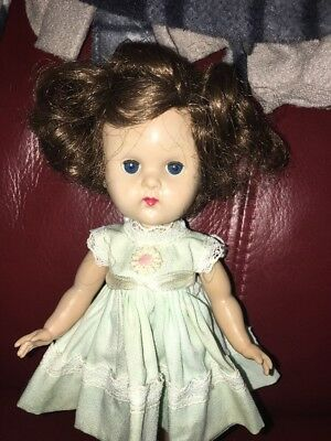 Vintage SLW Vogue Ginny Doll In Tagged Dress