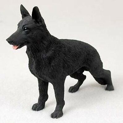 GERMAN SHEPHERD DOG Figurine Statue Hand Painted Resin Gift Pet Lovers Black