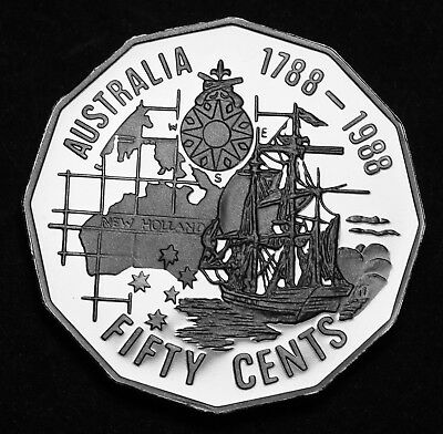 Australia 1988 Bicentenary 50 Cents 50c Proof Coin 106k Minted FDC