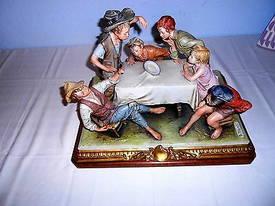 "RARE - Capodimonte ""The Plate Trick"" by Bruno Merli - Works of Art Italy 251"