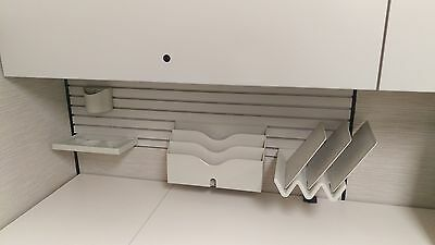 23 sets of Knoll Hang on Organizers 4 Piece Sets Pencil Cup Misc Tray & Dividers