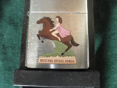 Zippo Mustang Bride Ranch Lighter Vintage New Old Stock