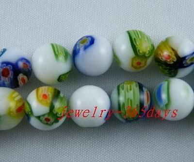 Glass Round Spacer Beads 30pc 6mm/25pc 8mm/20pc 10mm P90-P92
