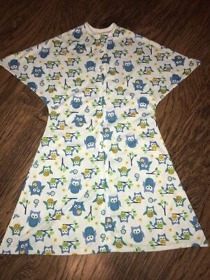 Zipadee Zip Medium 6-12 month old swaddle transition blanket OWLS