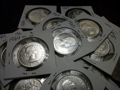 20 Canada Silver Half Dollars 1960's Mixed Dates