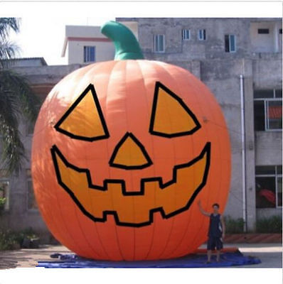 1.8m tall Inflatable Pumpkin Halloween Jack O Lantern Holiday with Blower