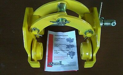 NEW !!! Oz Lifting Products 2 ton, beam width 2.99- 8.27. Beam Trolley, clamp.