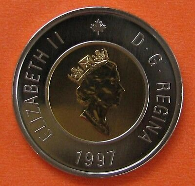 Canada 1997 Two 2 Dollar $2 Toonie Coin – Frosted Specimen Proof